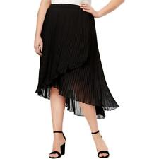 bd2c09135d0 NY Collection Asymmetrical Faux Wrap Black Pleated Skirt Plus 3x P3