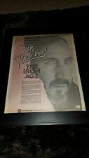 Pete Townshend The Iron Age Rare Westwood One Radio Promo Poster Ad Framed!