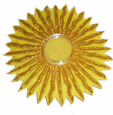 Flaming Star Relic Capsule Reliquary Church Cross Vestment Stole Patch God IHS A