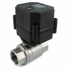 "3/4"" NPT Motorized Ball Valve Stainless SS EPDM 9 V, 12 to 24 VDC/VAC 2-wire N/O"