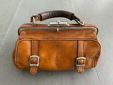 ***Antik kleine Arzttasche Hebammentasche vintage - Handtasche- Leder- retro***