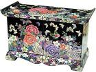 mother of pearl trinket jewelry box jewel case organizer peony flower design#309
