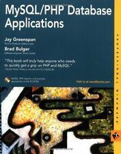 MySql/Php Database Applications Paperback Jay Greenspan
