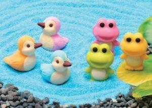 Novelty Japanese IWAKO Puzzle Eraser Rubbers - IWAKO Frog and Duck Erasers