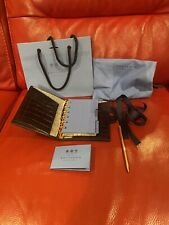 New SMYTHSON MARA Bijou Dark Brown Crocodile-Embossed Leather Organiser RRP £265