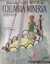 ROCK A BYE BABY BOOK VINTAGE KNITTING CROCHET LAYETTE HAT SWEATER PATTERNS 1960s
