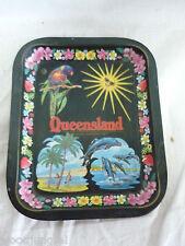Vintage QUEENSLAND  AUSTRALIA TIN TRAY METAL retro