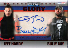 TNA Jeff Hardy & Bully Ray 2013 GLORY RED Dual Autograph Card SN 12 of 50