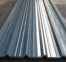 Box Profile Roof Sheets. Slate blue polyester coated, corrugated roofing sheets.