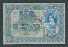 YUGOSLAVIA  1000 Kronen ND(1919 - od 1902) VF+ Handst. NOVI SAD  city in Serbia