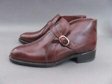 Sears Vintage Monk Strap Cordovan Leather Shoes, Men's 9.5D #74395