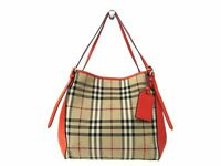 Burberry 3971216 HORSEFERRY CHECK SMALL CANTER Women's Tote Bag Beige,O BF308783