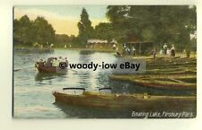 tp8544 - London - Boating along on The Lake, in Finsbury Park c1910 - Postcard