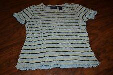 C2- Crazy Horse Striped Short Sleeve Top Size M