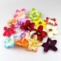 "10Pcs Artificial DIY Silk Orchid Head 3.1"" Peony Flower Heads for Wedding Decor"