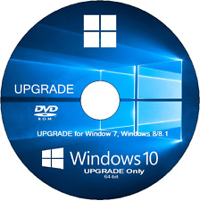 Windows 10 UPGRADE for Windows 7/8/8.1 32-Bit/64-bit DVD Disc With FREE Shipping