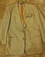 Vintage Men's Armani 2 button wool/linen/silk blend jacket blazer made in Italy