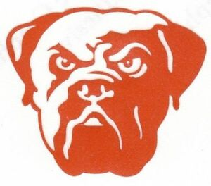 REFLECTIVE Cleveland Browns fire helmet decal sticker up to 12 inches