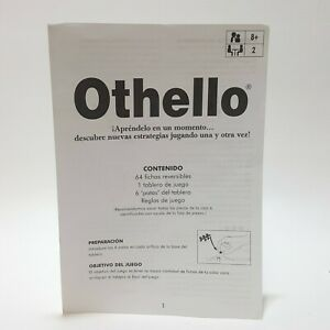 Othello Instruction Manual Rules Booklet Replacement Game Pieces Spanish Español