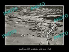 OLD LARGE HISTORIC PHOTO JAMBEROO NSW AUSTRALIA, TOWN AERIAL VIEW c1940