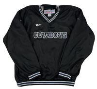 VTG Dallas Cowboys Reebok 'Pro-Line' Pullover Jacket Size Large Black 90s NFL