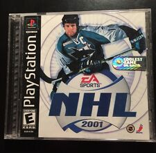 NHL 2001 (Sony PlayStation 1, 2000) w/ orig. Coolest Game on Earth Holo Sticker