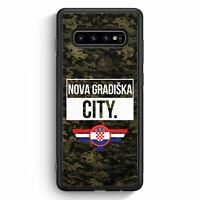 Nova Gradiska City Camouflage Kroatien Samsung Galaxy S10 Silikon Hülle Motiv...