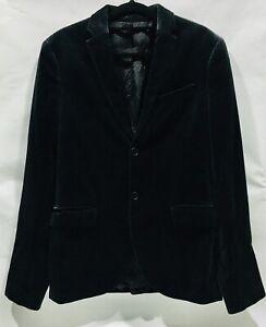 Mens H&M Slim Fit Cotton Velvet Blazer Size 36R / S Dark Green