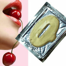 5PCS Gold Crystal Collagen Lip Mask Patch Anti Ageing Wrinkle Moisturising
