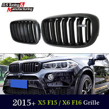 For BMW X5 F15 X6 F16 Matte Black Dual Slat X5M X6M Look Front Hood Grille Grill