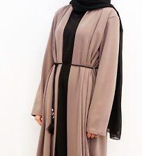 Beige Abaya With Belt Kimono Hijab Muslim Modest