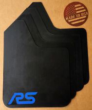 [SR] 2016+ FORD FOCUS RS Mud Guard Flaps STARTER Set BLACK w/ Logo (NO HARDWARE)