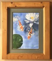 Original Art Watercolour Painting Of Two Koi Carp Fish By Linda Anderson