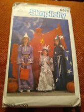 Simplicity 6672 Kids Halloween Costume Pattern Wizard Devil Princess Statue...