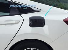 Carbon Fiber Fuel Tank Cap Gas Oil Box Cover Trim For Honda Civic 10th 2016-2019