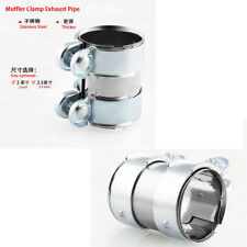 """2"""" Motorcycle Downpipe B Pipes Muffler V-Band Clamps + Screws Stainless Steel"""