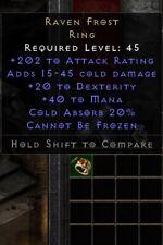 Raven Frost Ring 20 Dex | Rabenfrost | Diablo 2 Resurrected D2R SC PC