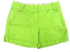 Womens J. Crew Shorts Classic Twill Chino Cotton Green Size 2 W-30 IS-4.5 GUC