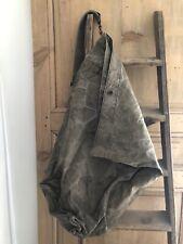 Vintage French LINEN MILITARY BAG c1930