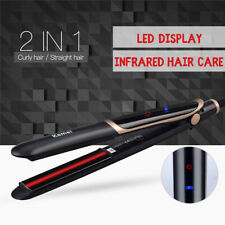 2in1 Curling Iron Hair Straightener LED Infrared Salon Curler Ceramic Tourmaline
