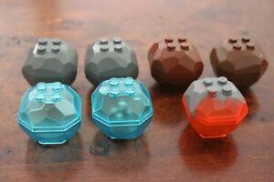1x Lego Volcanic Brown Rock Boulder Brown Trans Blue or Grey 42284