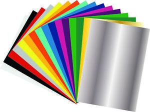 Flexfolie-Set, 16 Blatt FLEX DIN A4 in verschiedenen Farben für den Textil Druck