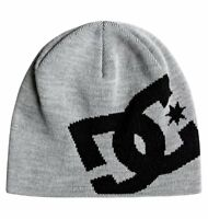 DC SHOES BIG STAR BEANIE HAT GREY HEATHER ADULTS 102812 KNFH   RRP £18