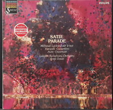 PHILIPS 412 028-1 SATIE - PARADE / MILHAUD / FRANCAIX / AURIC DORATI LSO HOLLAND