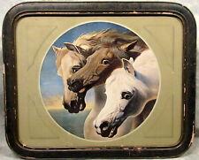 """John Frederick HERRING'S """"PHAROAH'S HORSES"""" COLOR PRINT IN ANTIQUE FRAME"""