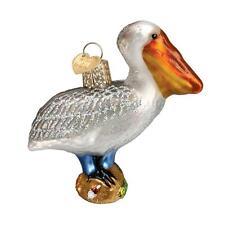 PELICAN BIRD OLD WORLD CHRISTMAS GLASS BEACH NAUTICAL ANIMAL ORNAMENT NWT 16073