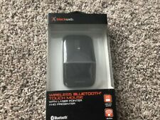Wireless Bluetooth Touch Mouse with Laser Pointer 75 ft Range BlackWeb BRAND NEW
