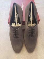 Salvatore Ferragamo Mens Shoes Dunn Addition Grey Nib!! Size 11 D