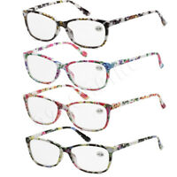 4 Pairs Pack Lot Women Reading Glasses Lens Fashion Floral Frame Spring Hinge