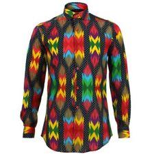 Camicie casual e maglie da uomo a manica lunga a pois multicolore